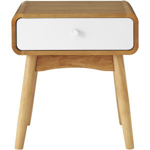 Fifty Five South Malmo Side TableWith Drawer - White Oak Veneer