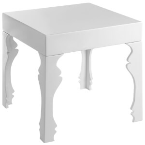Fifty Five South Luis Side Table - White High Gloss