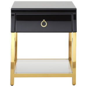 Fifty Five South Kensington Townhouse Side Table - Black/Gold