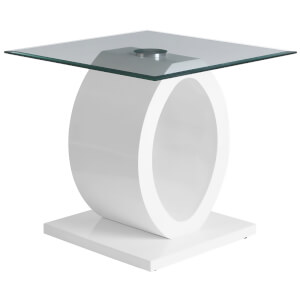 Fifty Five South Halo Side Table - White