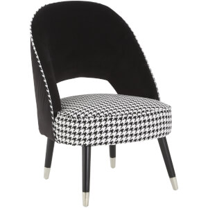 Fifty Five South Regents Park Two Tone Chair - Velvet/Dogtooth