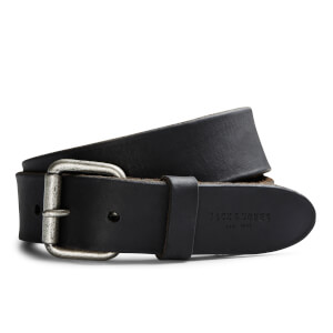 Jack & Jones Men's Jakob Leather Belt - Black