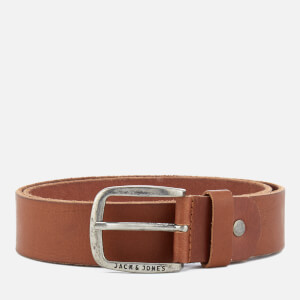 Jack & Jones Men's Paul Leather Belt - Mocha Bisque