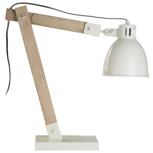 Fifty Five South Oslo Adjustable Table Lamp - White/Natural