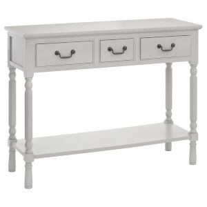 Fifty Five South Heritage Three Drawer Console Table - Vintage Grey