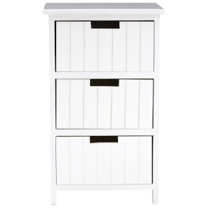 Fifty Five South New England Three Drawer Chest - White