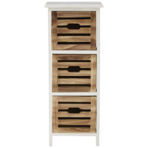 Fifty Five South Portsmouth Three Drawer Chest - White