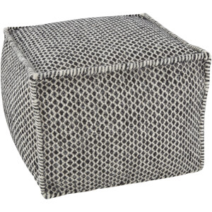 Fifty Five South Bosie Lattice Print Pouffe - Black