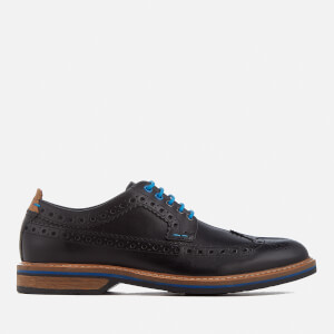 Clarks Men's Pitney Limit Leather Brogues - Black