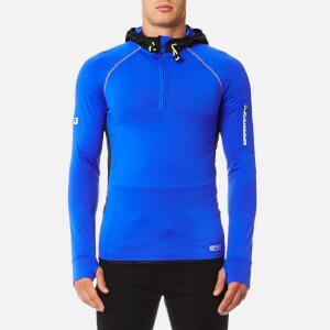 Superdry Men's Sports Athletic Half Zip Hoody - Cobalt