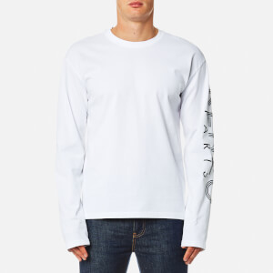 KENZO Men's Long Sleeve Logo T-Shirt - White