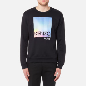 KENZO Men's Embroidered Degrade Sweatshirt - Black