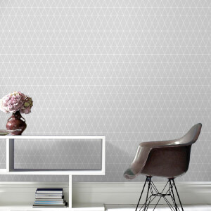 Superfresco Easy Triangolin Geometric Wallpaper - Grey