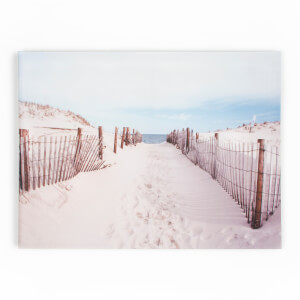 Art For The Home Walk To The Beach Seaside Printed Canvas Wall Art