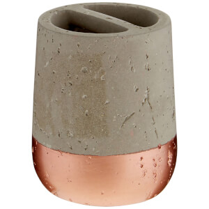 Fifty Five South Neptune Toothbrush Holder - Concrete/Copper