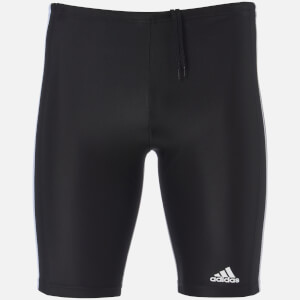 adidas Swim Men's Essential 3 Stripe Long Length Boxers - Black