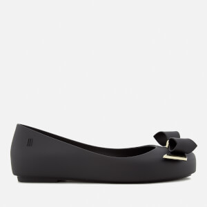 Mini Melissa Kids' Space Love Bow Ballet Flats - Black