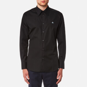 Vivienne Westwood MAN Men's New Poplin Classic Cutaway Shirt - Black