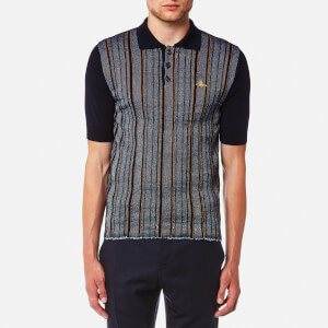 Vivienne Westwood MAN Men's Pilgrim Stripe Polo Shirt - Navy Stripe