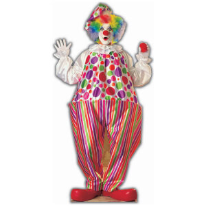 Creepy Clown Cardboard Cut Out