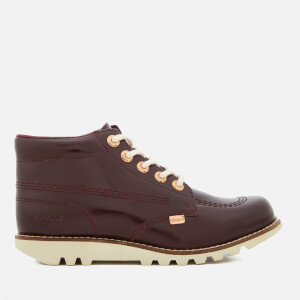 Kickers Women's Kick Hi C Leather Boots - Dark Burgundy