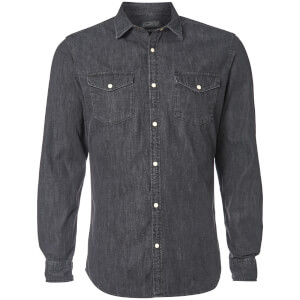 Jack & Jones Men's Originals New One Long Sleeve Denim Shirt - Black