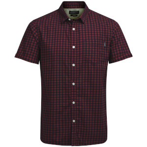 Jack & Jones Men's Originals Jamey Short Sleeve Shirt - Rosewood