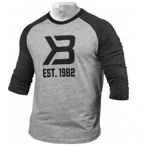 Better Bodies Mens baseball tee - Greym/anthracite