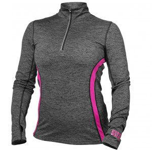 Better Bodies Performance Mid Long Sleeve Sweatshirt - Graphite/Pink