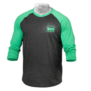 Better Bodies Mens baseball tee - Green/antracite