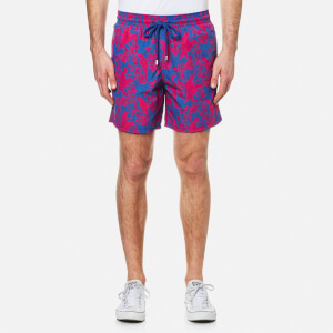 Vilebrequin Men's Moorea Bird Print Swim Shorts - Cockatoo