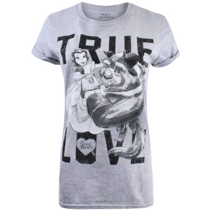 Beauty and the Beast Ladies True Love T-Shirt - Sport Grey