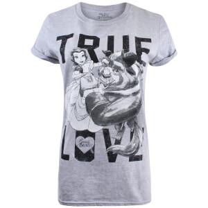 T-Shirt Femme True Love La Belle et la Bête - Gris