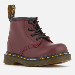 Dr. Martens Toddlers' Brooklee B Leather Lace Up Boots - Cherry Red: Image 2