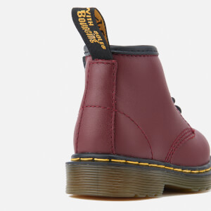 Dr. Martens Toddlers' Brooklee B Leather Lace Up Boots - Cherry Red: Image 6