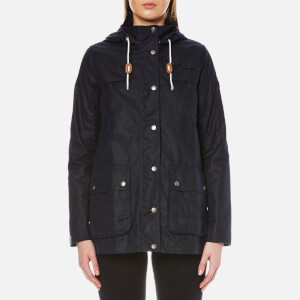 Barbour Women's Barbour Headland Wax Jacket - Royal Navy