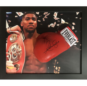Anthony Joshua Signed and Framed Glove with Domed Frame Finish