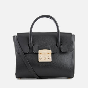 Furla Women's Metropolis Small Satchel Bag - Onyx
