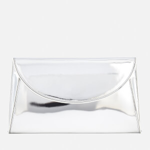 Diane von Furstenberg Women's Metallic Evening Clutch Bag - Silver