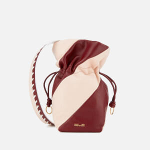 Diane von Furstenberg Women's Evening Drawstring Bag - Red Wine/Petal