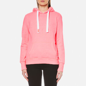 Superdry Women's Vintage Logo Embossed Hooded Jumper - Ultra Pink Grit