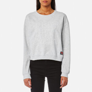 Superdry Women's Metro Corded Crew Sweatshirt - Ice Marl