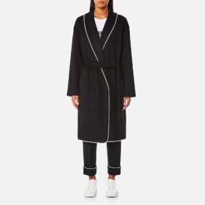 Alexander Wang Women's Ball Chain Trim Bathrobe Coat - Onyx
