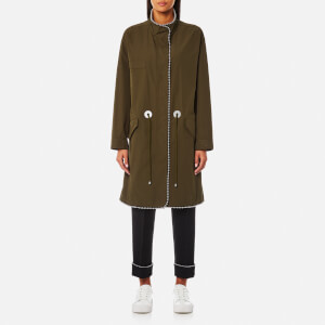 Alexander Wang Women's Ball Chain Trim Oversized Parka - Army