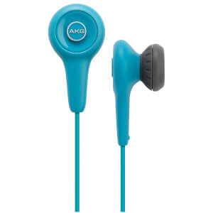 AKG Y10 Comfortable Lightweight Portable Stereo Earphones - Blue: Image 3