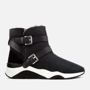 Ash Women's Mochi Suede Boots - Black
