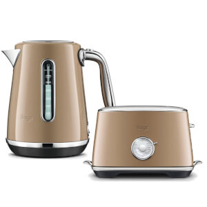 Sage by Heston Blumenthal BTA735BCM The Toast Select Luxe 2 Slice Toaster & Kettle- Burnt Caramel