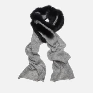 Charlotte Simone Women's Ziggy Mohair Scarf - Grey/Black