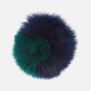 Charlotte Simone Women's Spankie Fur Cuff - Navy/Green