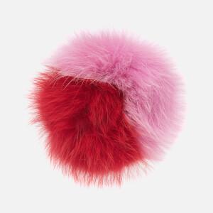 Charlotte Simone Women's Spankie Fur Cuff - Hot Pink/Red